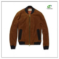 2016 bomber style casual men's suede jacket