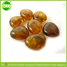 Transparent acrylic handmade loose amber beads/ imitation baltic amber