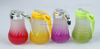 Color Spray Ball Glass Salt Pepper Honey Dispenser Shaker