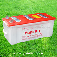 12V165AH Yuasan Reliable Lead Dry Cell Charged Car Battery for truck NS200