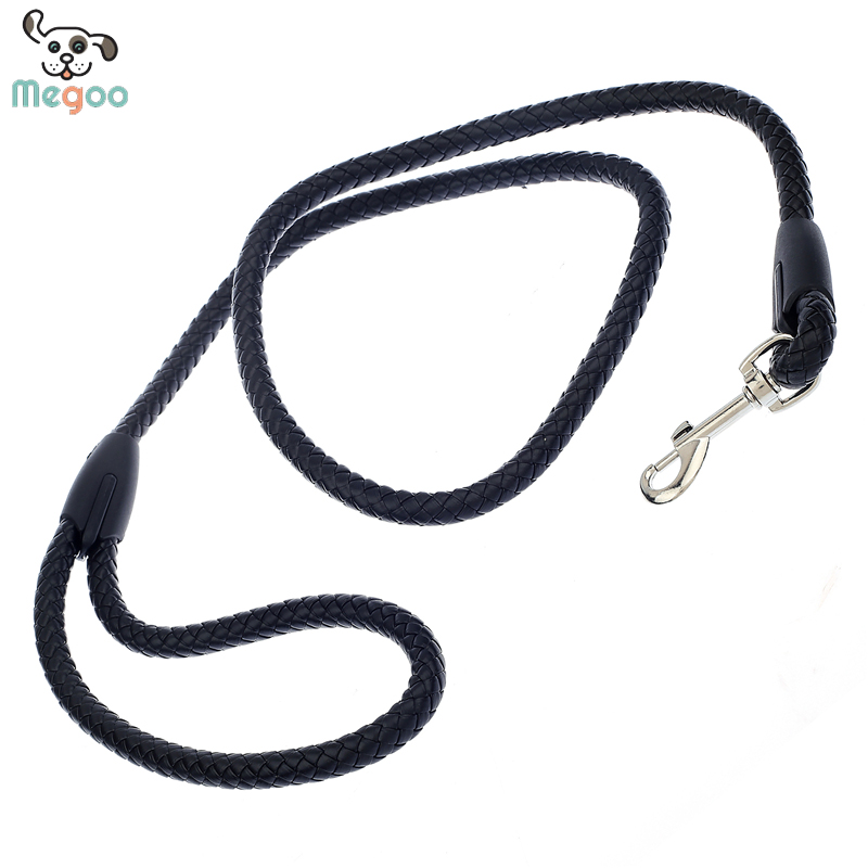 120cm Long Dog Leash PU Braided Pet Walking Lead Outdoor Puppy Collar Leash