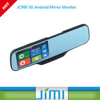Jimi JC900 3g rearview mirror monitor real time gps tracker black box car 3g