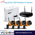 4 Channel Wireless Surveillance DVR Kit 720P Wireless CCTV Outdoor Camera Security Systems