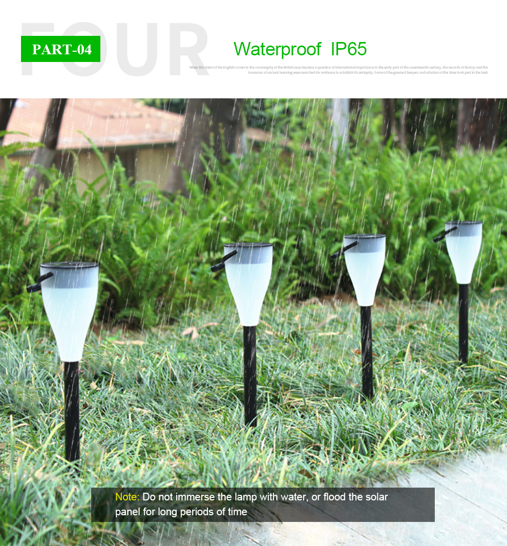 solar energy absorbing solar garden lamp perfect lighting for decoration effect