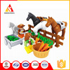 bricks toy for the farms with the horse block building games
