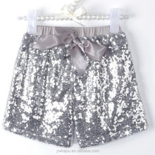 2015 Bling Bling Front Sequins Short Hot Pants with Soft Lining Fabric Club Women Dresses