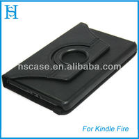 360 rotating tablet PU leather covers for amazon kindle fire cases