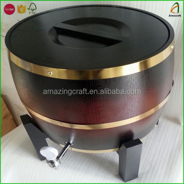 3L Beer Wooden Drum with Stainless Inner Tank