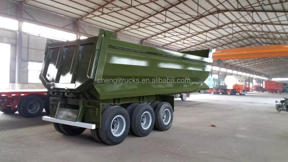 Factory directly Sell Military 12 wheeler 3 Axle 60t Dump Trailer Price Cheap for Sale