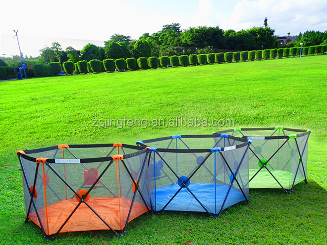 Kids Panel Yard 6 sides With Mattress Baby Folding Playpen Large Playpen For Babies