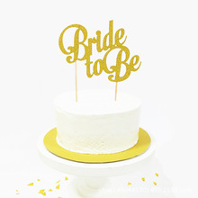 Glitter Bride to Be Gender Reveal Cake Topper for Wedding Party Decorations