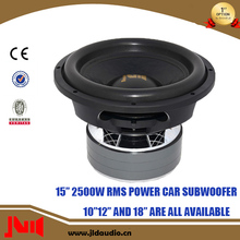 15 Inch Speaker Car Audio 2500W RMS Power Speaker Subwoofers