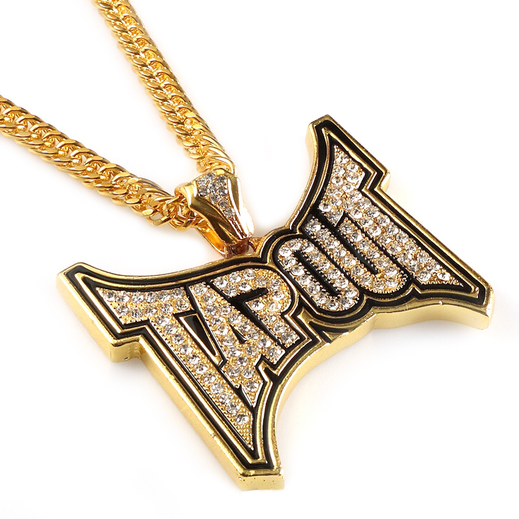 Cheap Custom Hip Hop Gold Large Tapout Pendant Necklace Jewelry