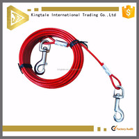 hot sale pvc coated wire cable &led dog leash wholesale in China