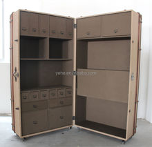 Canvas book case,classic bookcase,Richards' Trunk Secretary