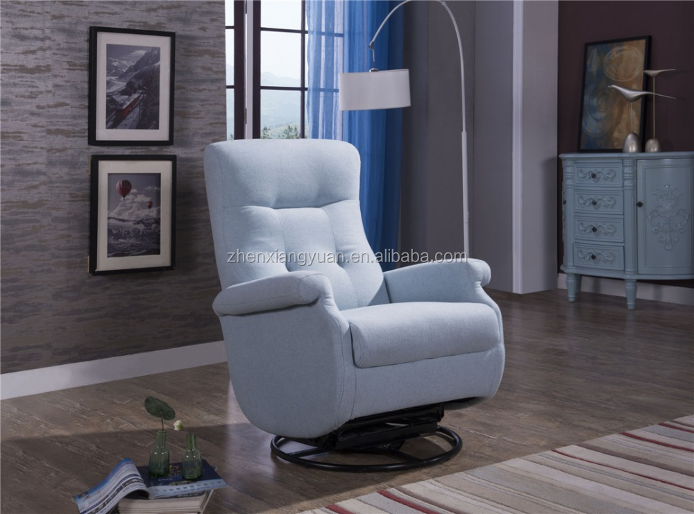 2017 new arrivals Baby Relax Nursery Swivel Glider fabric Chair