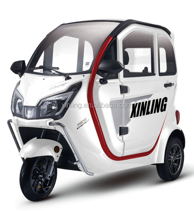 hot sale new arrival fully enclosed closed electric 3 wheel trike tricycle for passenger use for sale in china