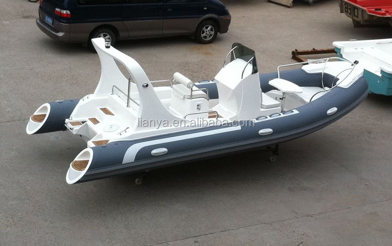 Liya boat gas tank 5.8m offshore ocean boat with seat cushion