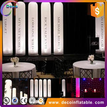 LED inflatable ivory shape pillar light balloon arch for wedding or party decorations
