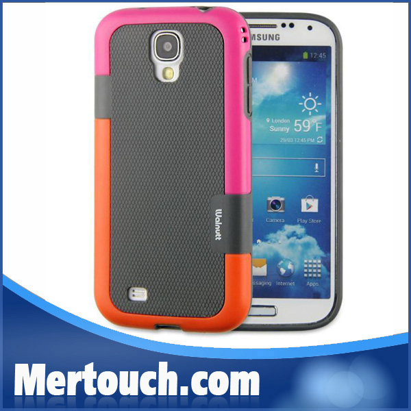 Colorful contrast back cover protective phone case Walnutt for Samsung Galaxy S4 i9500 cell phone