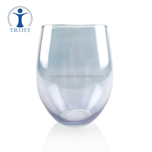 New Elegant 350 450 500 ml Color handmade Stemless glass Drinking Red Wine Cup