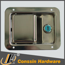 Industrial metal enclosure two point paddle slam lock