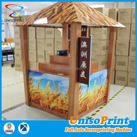 Eco-friendly high-capacity merchandising coroplast plastic exhibition display