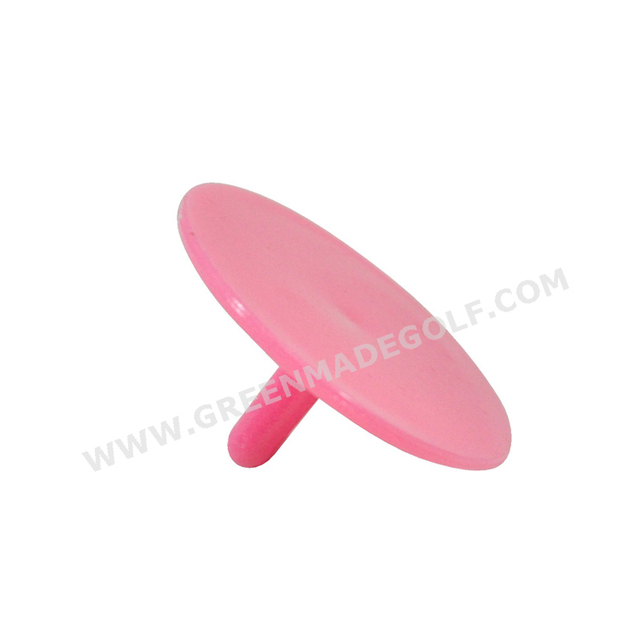 Pink color plastic golf ball marker