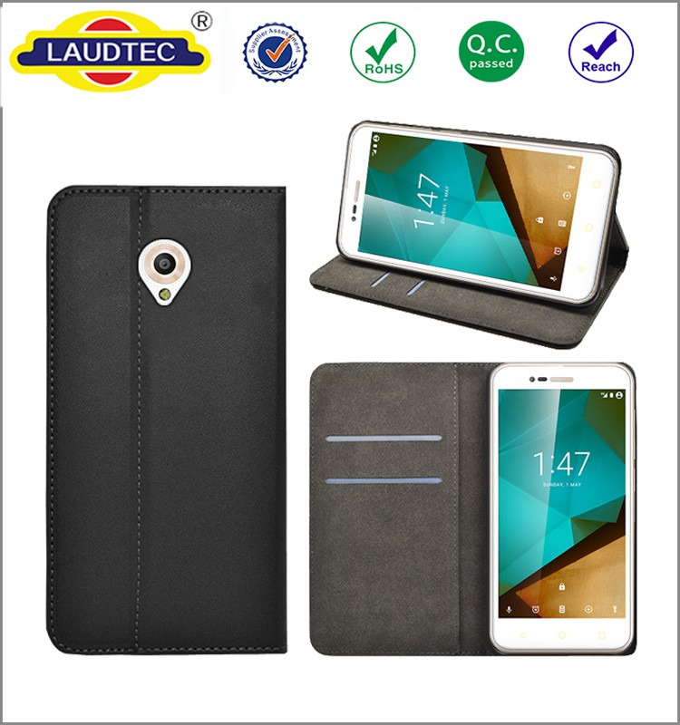 Luxury PU Leather Magnetic wallet cover case for Vodafone Smart Prime 7 , Cell Phone wallet case for Smart Prime 7