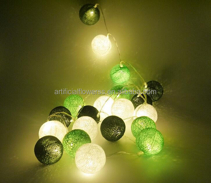 High quality christmas decorative led cotton ball string light