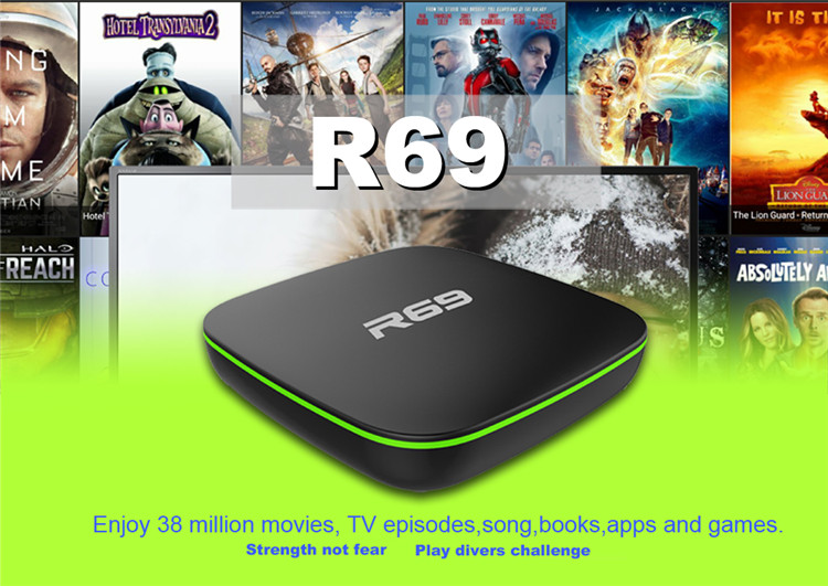 2019 shenzhen dragonworth factory direct price Newest Brand R69 with Allwinner H3 Quad core oem android tv box android 7.1