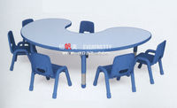 Hot sale kids furniture U-shape table/factory children party studt table /cheap children learing tables and chairs