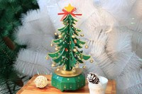 christmas decor artificial christmas tree music box