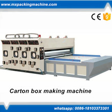 corrugated carton box 2 colors printer slotter flexo printing slotting machine for sale