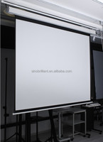 "110"" 16:9 motorzied projection screen, electric projector screen with remote control/matte white or 3D"