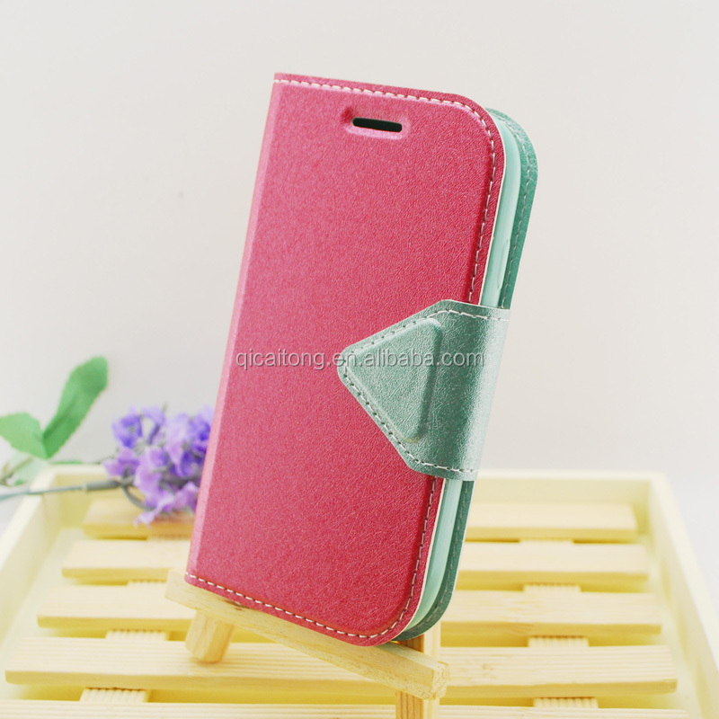 2014 new TPU stitching leather case for samsung galaxy I8190 S3 mini