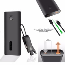 2017 hot New Products Type-C Portable Power Bank QC3.0 Fast Charging Power Banks for gionee mobile phone