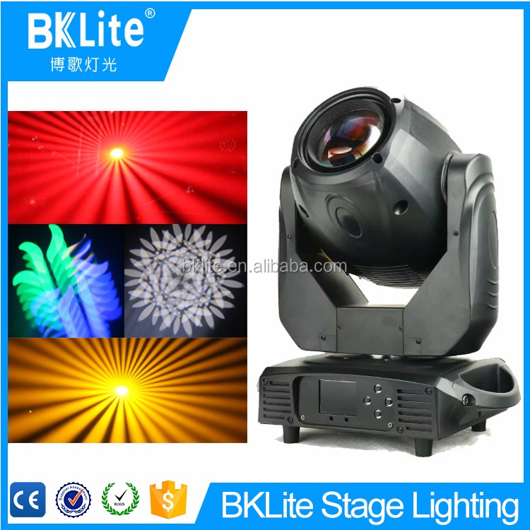 Guangzhou BKLITE luxury spot gobo rgbw full color 200w led profile spot light with 7 gobos open
