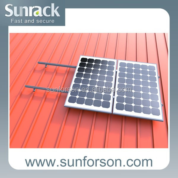 metal roof pv solar panel racking systems