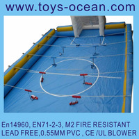 inflatable human foosball court/giant inflatable human soap football field,portable soccer fields