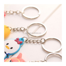 Manufacture Wholesale Custom PVC Rubber Key Chain Ring for Promotion Gifts