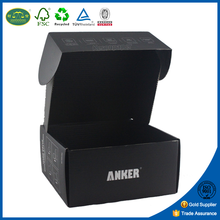 Paper cardboard shirt packaging black corrugated shipping boxes