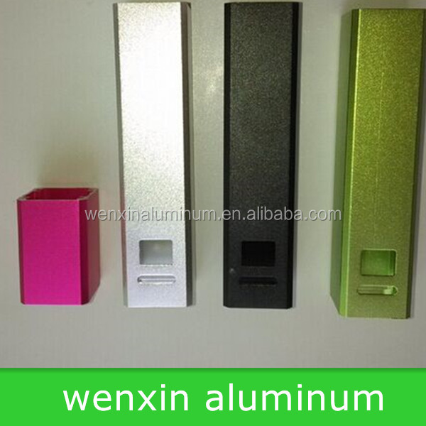 Sandblasting aluminum square tube sandblasting and anodizing black aluminum square tube