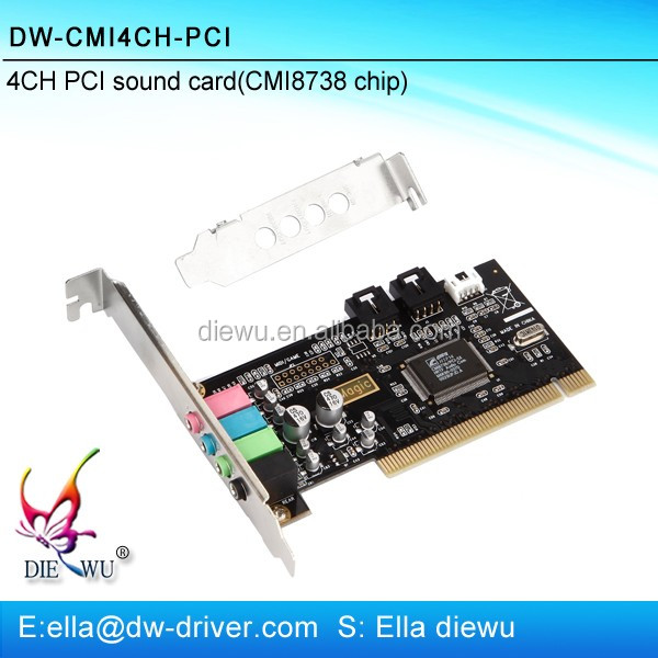 High quality 3D PCI 4 channel sound card