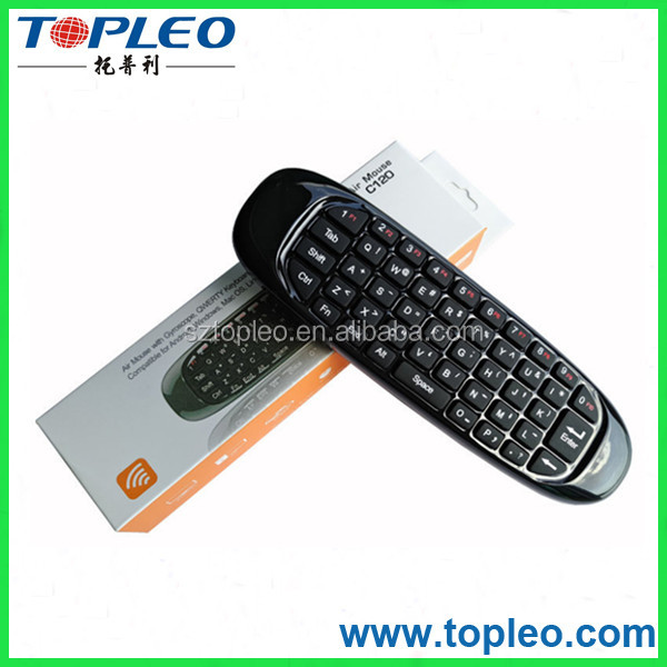 2.4g ultra mini wireless keyboard C120 universal remote control with air mouse