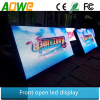 Popular size led sign 8ftX4ft / 6ftX4ft / 4ftX4ft wireless remote control programmable full color outdoor led store front sign