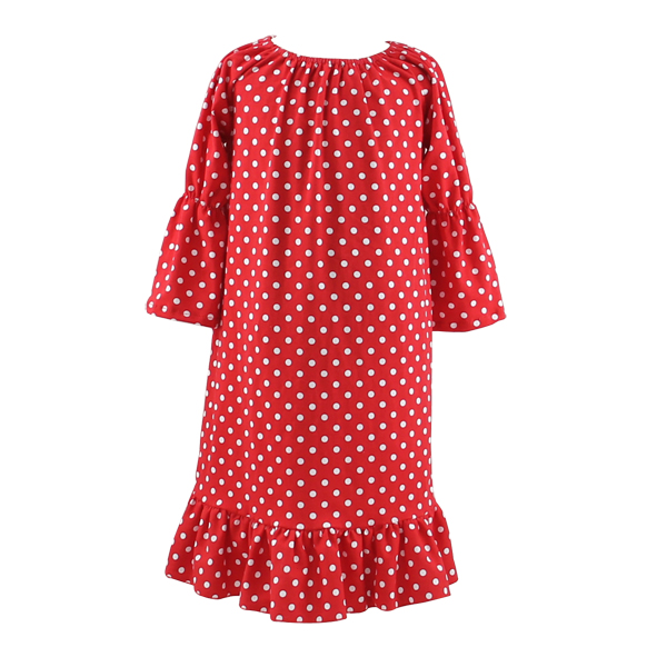 2017 kaiyo hot sale girls night dress for sleep long sleeve baby gown girl cotton kids sleeping dress