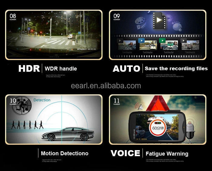 2.7 inch 3 in 1 Car Camera 1296P Car Key GPS/Glonass Tracker For Ambarella A7 Car DVR