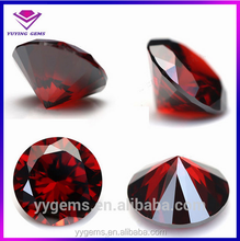 synthetic loose gemstone garnet cz for 925 sterling silver pendant
