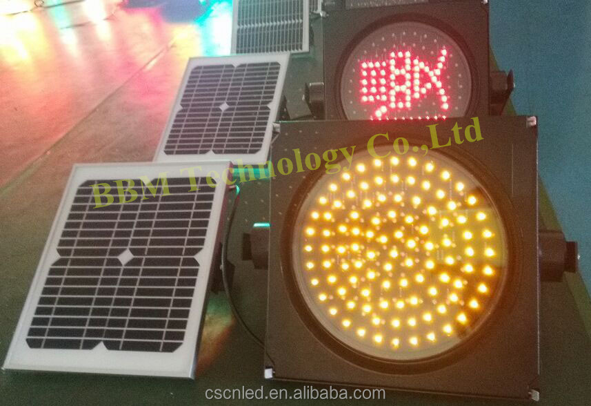 100 pcs led traffic bulbs with solar panel